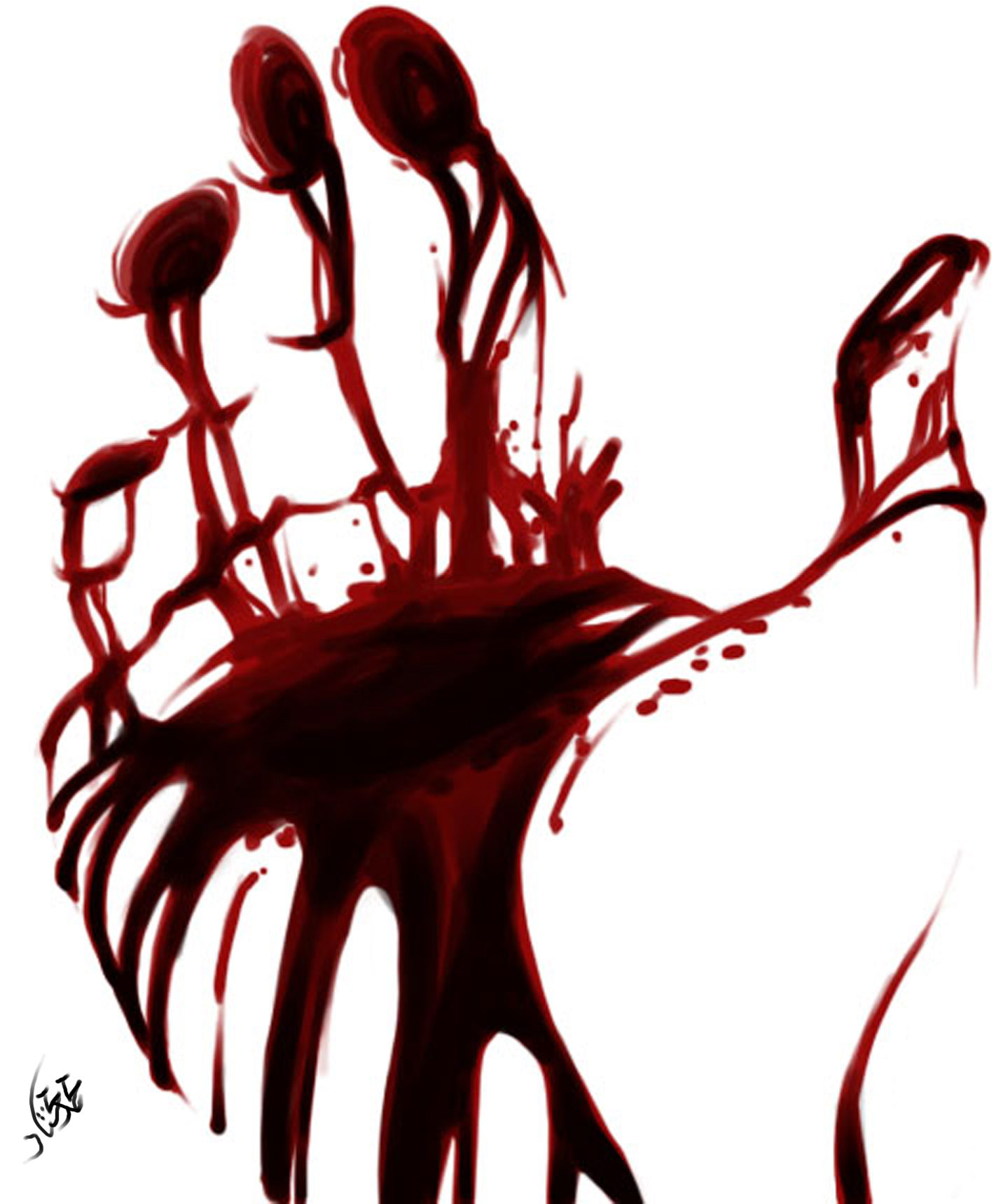 Blood on my hands Blood