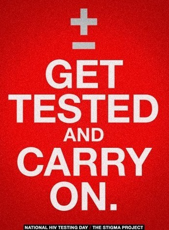 Get tested and carry on